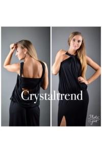 Yesstory maxi ruha fekete csavart