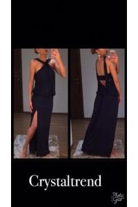 Yesstory maxi ruha sötétkék csavart