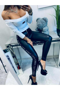 Lola Bianka Silver Leggings