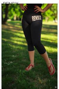 Rensix fekete leggings felül írásos