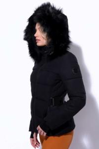 AMNESIA Rövid öves kabát fekete