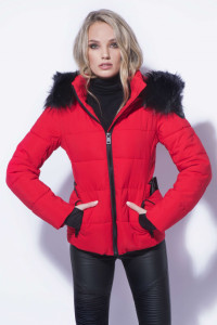 AMNESIA Rövid öves kabát piros