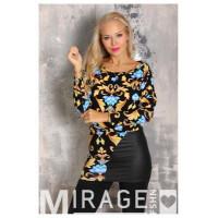 Mirage Lofti oldalt bőr ruha-Barokk mintás