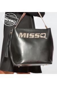 Missq fekete-arany válltáska