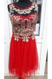 Tüllszoknyás Piros ruha