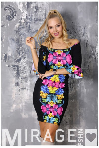 Mirage Gigi ruha - Színes virágos