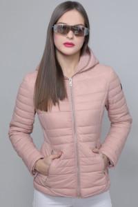 AMNESIA Zippes aljú kabát rózsaszín