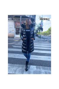 MissQ Nina kabát /hosszú Fekete