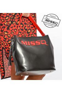 Missq fekete-piros válltáska