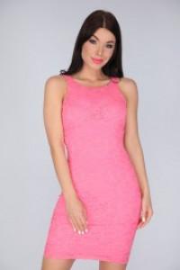 La Pierre Odyn csipke ruha pink