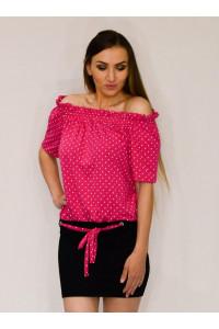 Yesstory pöttyös ruha pink