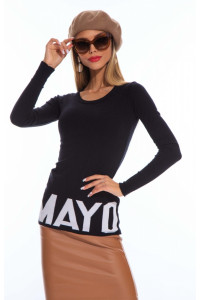 Mayo Chix Primula pulóver kötött sötétszürke