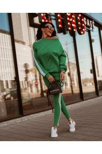 Ola Voga Green White Stripes szett