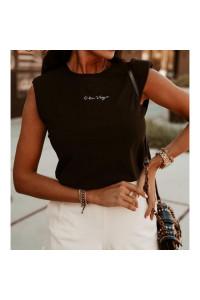 Ola Voga Black Lorena T-Shirt