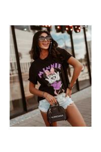 Ola Voga Black Minnie T-Shirt