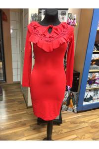 Rensix piros csipkés ruha