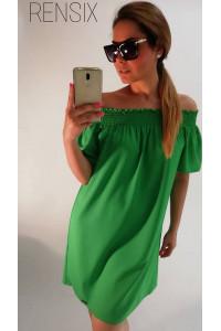 Rensix zöld gumis vállú ruha