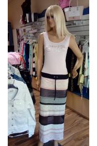 9d6e365974 Rucy Fashion csíkos kék-rózsaszín maxi ruha