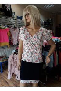 Rucy Fashion virágos-sötétkék ruha
