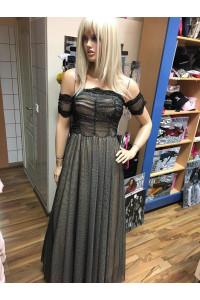 Drapp fekete strasszos ruha