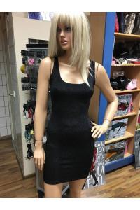 Fekete csillogós ruha