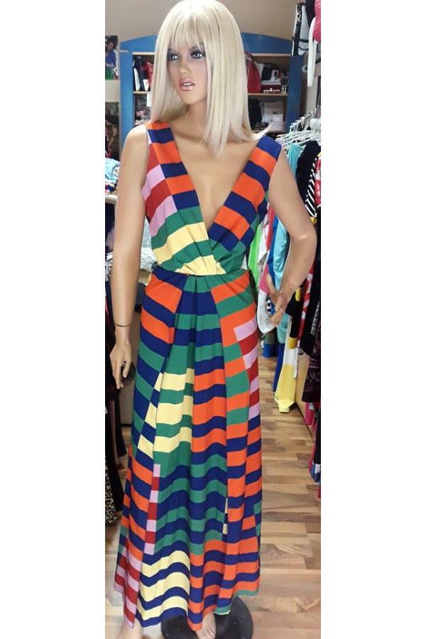8621ea73fb Színes maxi ruha