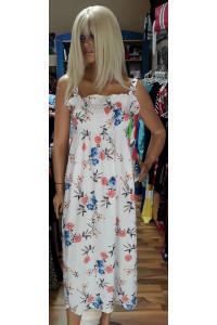 Fehér virágos ruha