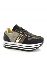 Mayo Chix fekete arany cipő