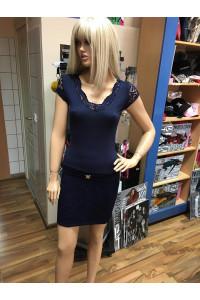Rucy Fashion csipkés sötétkék ruha