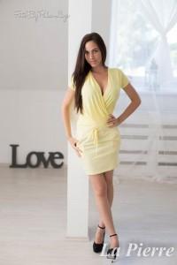La Pierre Inez sárga színű ruha