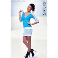 Rensix kék fehér csipkés ruha