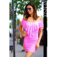 Rensix neon pink fodros ruha